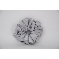 (10) Mid Grey Single Colour Scrunchie