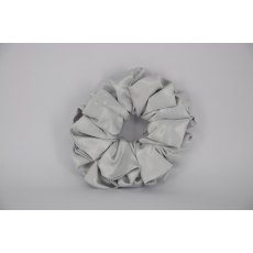(11) Silver Grey Single Colour Scrunchie