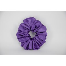 (14) Bright Purple Single Colour Scrunchie