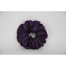 (16) Dark Purple Single Colour Scrunchie