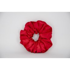 (17) Red Single Colour Scrunchie