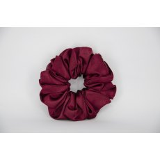 (18) Burgundy Single Colour Scrunchie