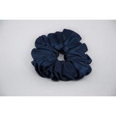 (01) Navy Single Colour Scrunchie