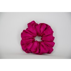 (23) Cerise Single Colour Scrunchie