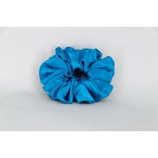 (28) Peacock Blue Single Colour Scrunchie