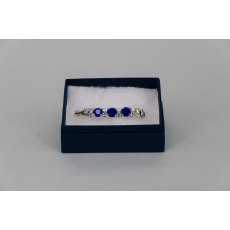 Stock Pin - 6mm Sapphire Blue & 3mm Clear Jewels