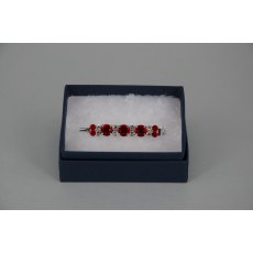 Stock Pin - 6mm & 3mm Red with 3mm Clear Jewels