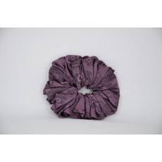 (34) Pink/Lilac Paisley Single Colour Scrunchie