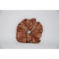 (35) Rust Paisley Single Colour Scrunchie
