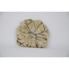 (38) Gold Paisley Single Colour Scrunchie