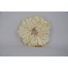 (39) Cream Single Colour Scrunchie