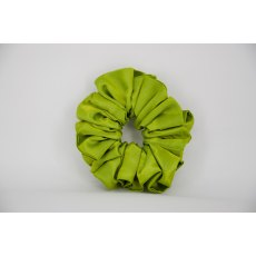(42) Lime Green Single Colour Scrunchie