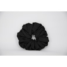(43) Black Paisley Single Colour Scrunchie