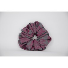 (44) Cerise Paisley Single Colour Scrunchie