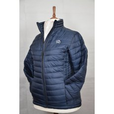 Equi-Jewel 'Classic Collection' Ladies Padded Jacket - Navy with EJ Logo in Silver Grey on Front