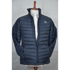 Equi-Jewel 'Classic Collection' Mens Padded Jacket - Navy with EJ Logo in Silver Grey on Front