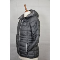 Equi-Jewel 'Classic Collection' Ladies Hooded Padded Jacket - Space Grey with EJ Logo in Silver Grey on Front