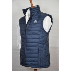 Equi-Jewel 'Classic Collection' Mens Padded Body Warmer - Navy with EJ Logo in Silver Grey on Front