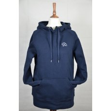 Equi-Jewel 'Classic Collection' Ladies Hooded Sweatshirt - Navy with EJ Logo in Silver Grey on Front