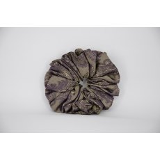 (51) Gold/Purple Paisley Single Colour Scrunchie
