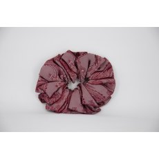 (53) Burgundy Paisley Single Colour Scrunchie