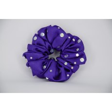 (14) Bright Purple Scrunchie with Sequins