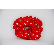 (17) Red Scrunchie with Sequins