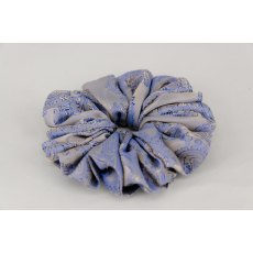 (56) Royal Blue Paisley Single Colour Scrunchie