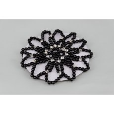 Black Pearl & Diamante Bun Net