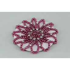 Burgundy Pearl & Diamante Bun Net