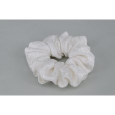 EJS-48 Geneva White Scrunchie