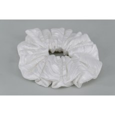 EJS-57 Cologne White Scrunchie