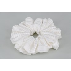 EJS-59 Paris White Scrunchie
