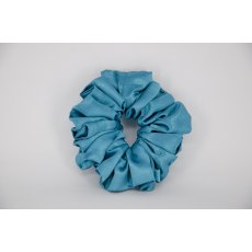(05) Aqua Single Colour Scrunchie