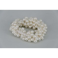 Pearl Effect Beaded Scrunchie - Ivory Pearl