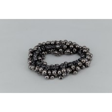 Pearl Effect Beaded Scrunchie - Graphite