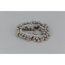 Pearl Effect Beaded Scrunchie - Silver