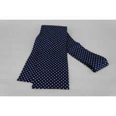 Navy with White Dot Tie Your Own Stock