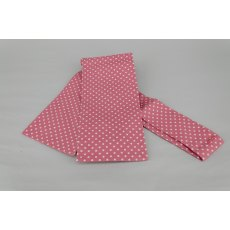 Pink with White Dot Tie Your Own Stock