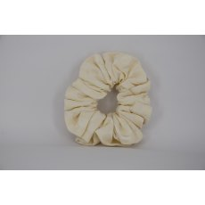 EJS-09 Cream Square Scrunchie