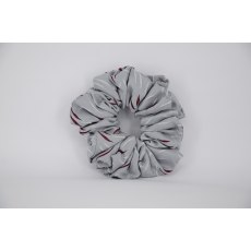 EJS-21 Grey & Burgundy Scrunchie