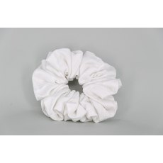 EJS-29 White Diamond Waffle Effect Scrunchie