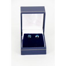 Earrings - Rivoli Swarovski Crystal Round Stud - Montana