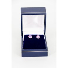 Earrings - Xirius Swarovski Crystal Round Stud - Burgundy DeLite