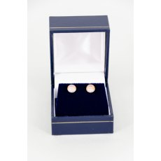 Earrings - Xirius Swarovski Crystal Round Stud - Cappuccino DeLite