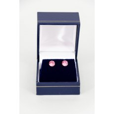 Earrings - Xirius Swarovski Crystal Round Stud - Rose