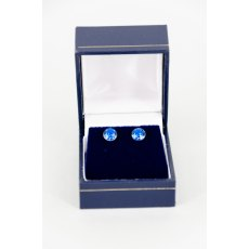 Earrings - Xirius Swarovski Crystal Round Stud - Capri
