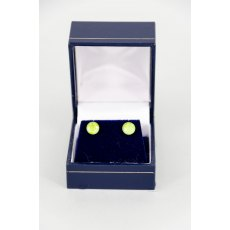 Earrings - Xirius Swarovski Crystal Round Stud - Lime Green