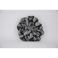 EJS-38 Mid Grey with Black Pattern Scrunchie