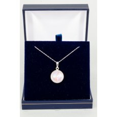 Necklace - Rivoli Swarovski Crystal Single Drop Round - Lavender DeLite